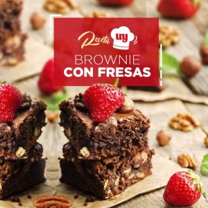 Brownie con fresas