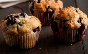 Muffins de Arándanos con crumble